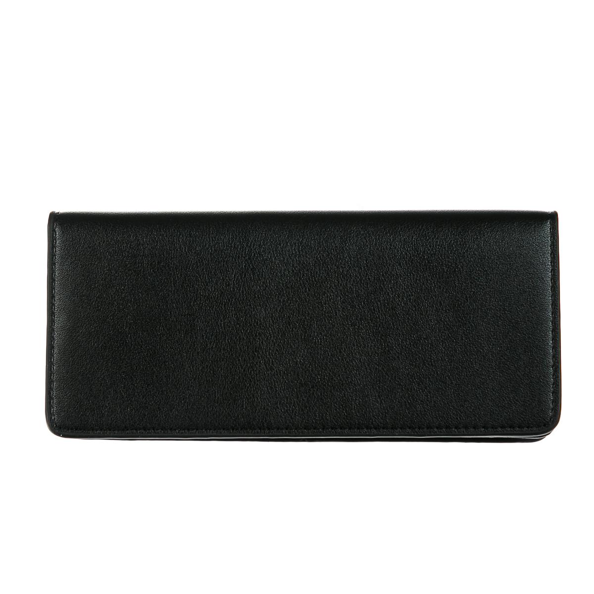 Мужской кошелек, длинный, черный