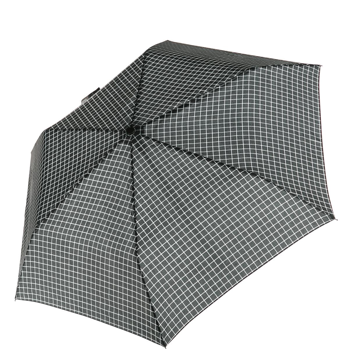 Короткий зонт в чехле в среднюю клетку для женщин, цвет черный, р-р 24 см