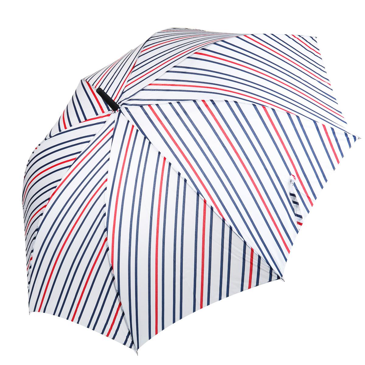 Зонт-трость в бело-сине-красную полоску