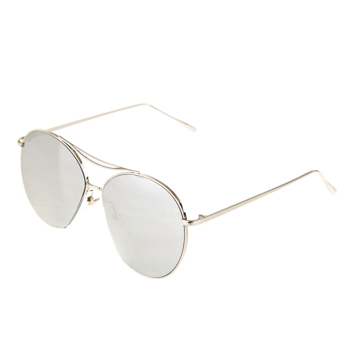 Очки с серебристыми линзами унисекс серебристые