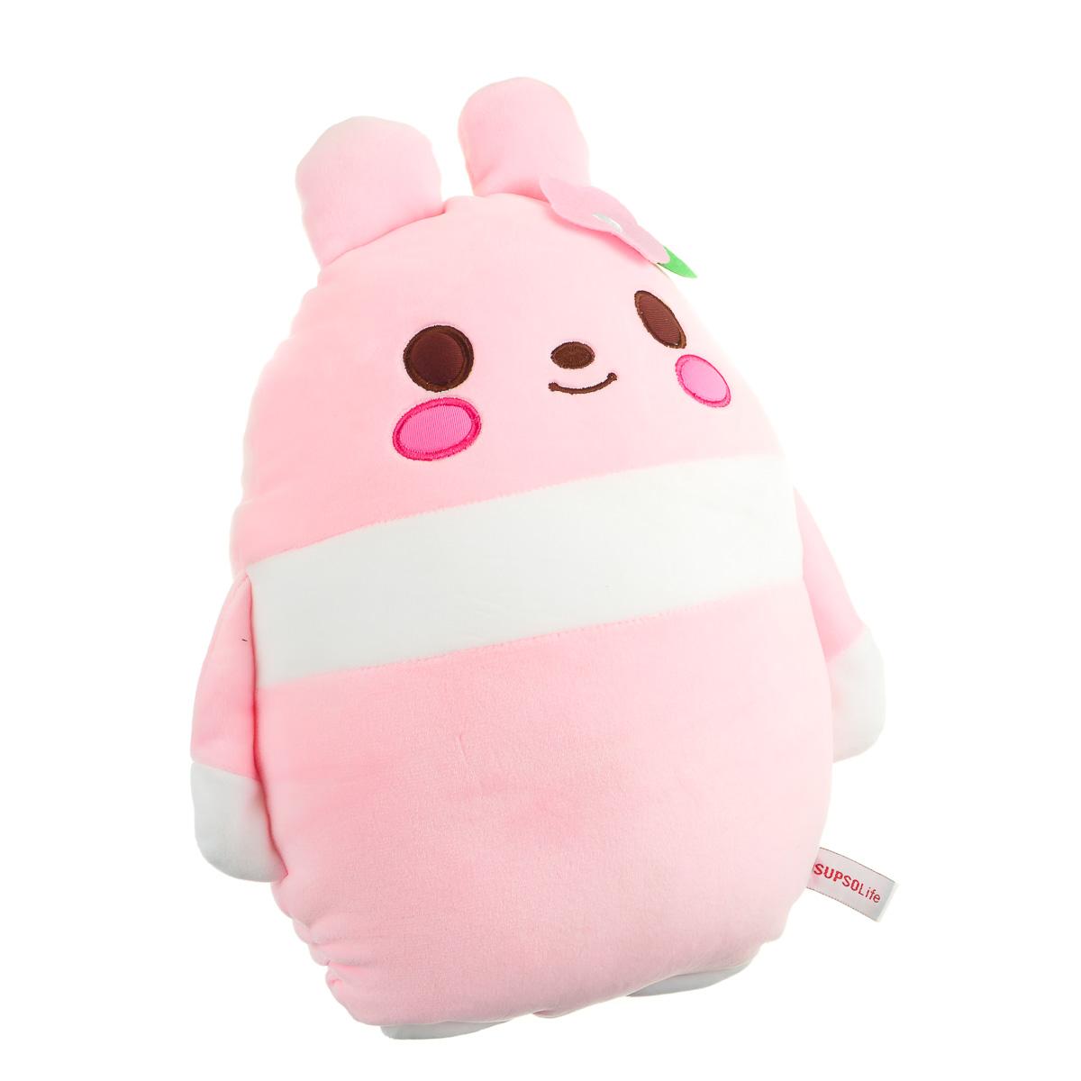 Игрушка мягкая заяц овальный розовый