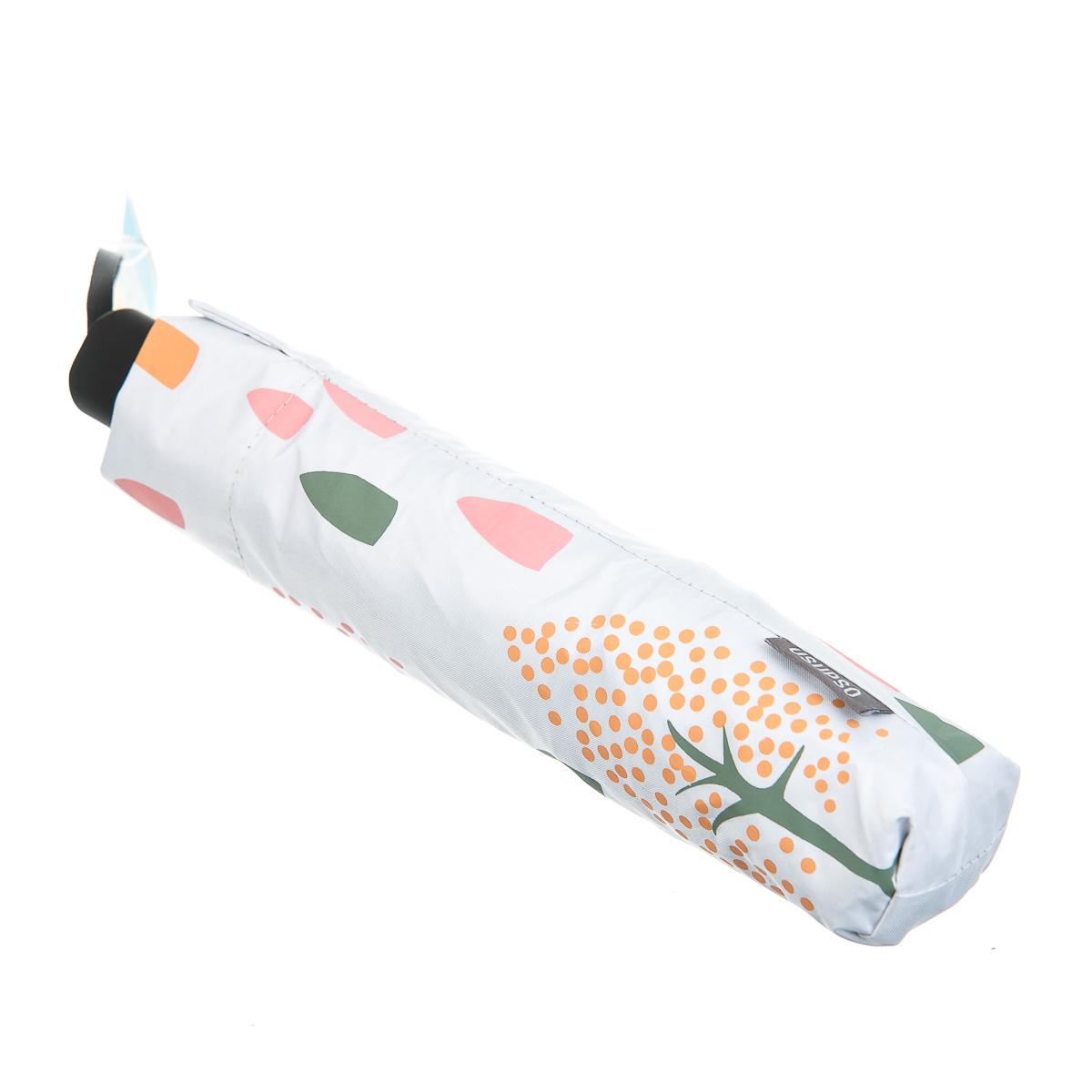 Зонт складной белый с деревьями