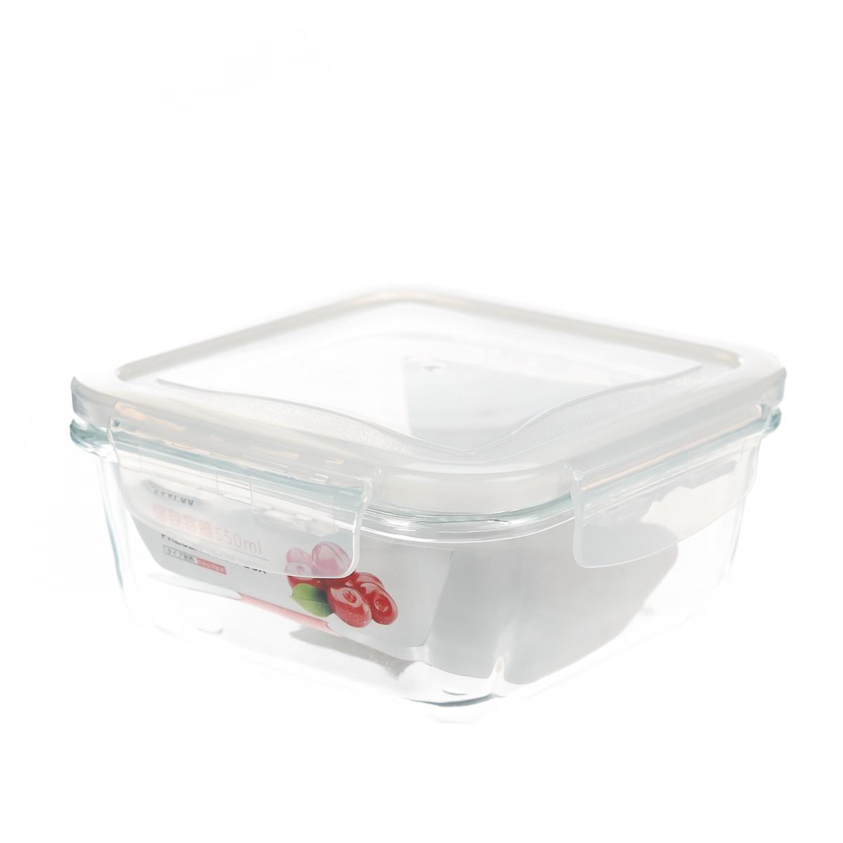 Контейнер для хранения еды стеклянный 550 мл