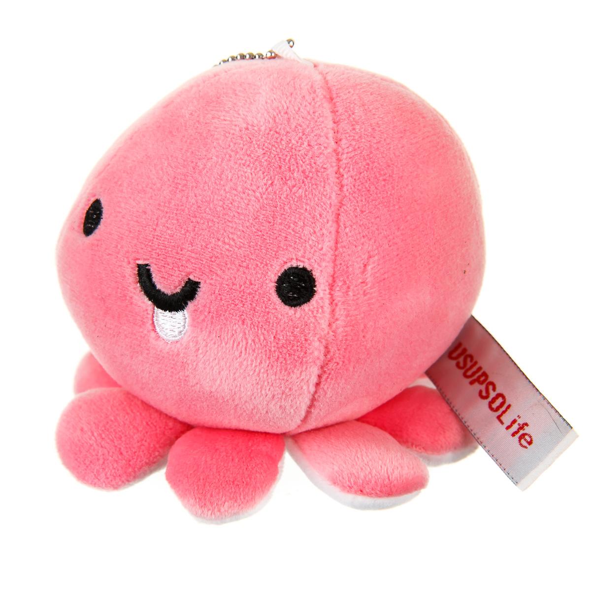Брелок осьминог розовый