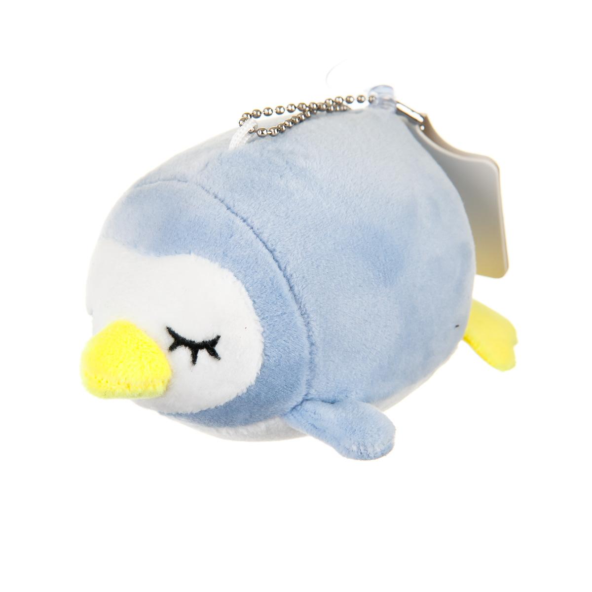 Брелок пингвин голубой
