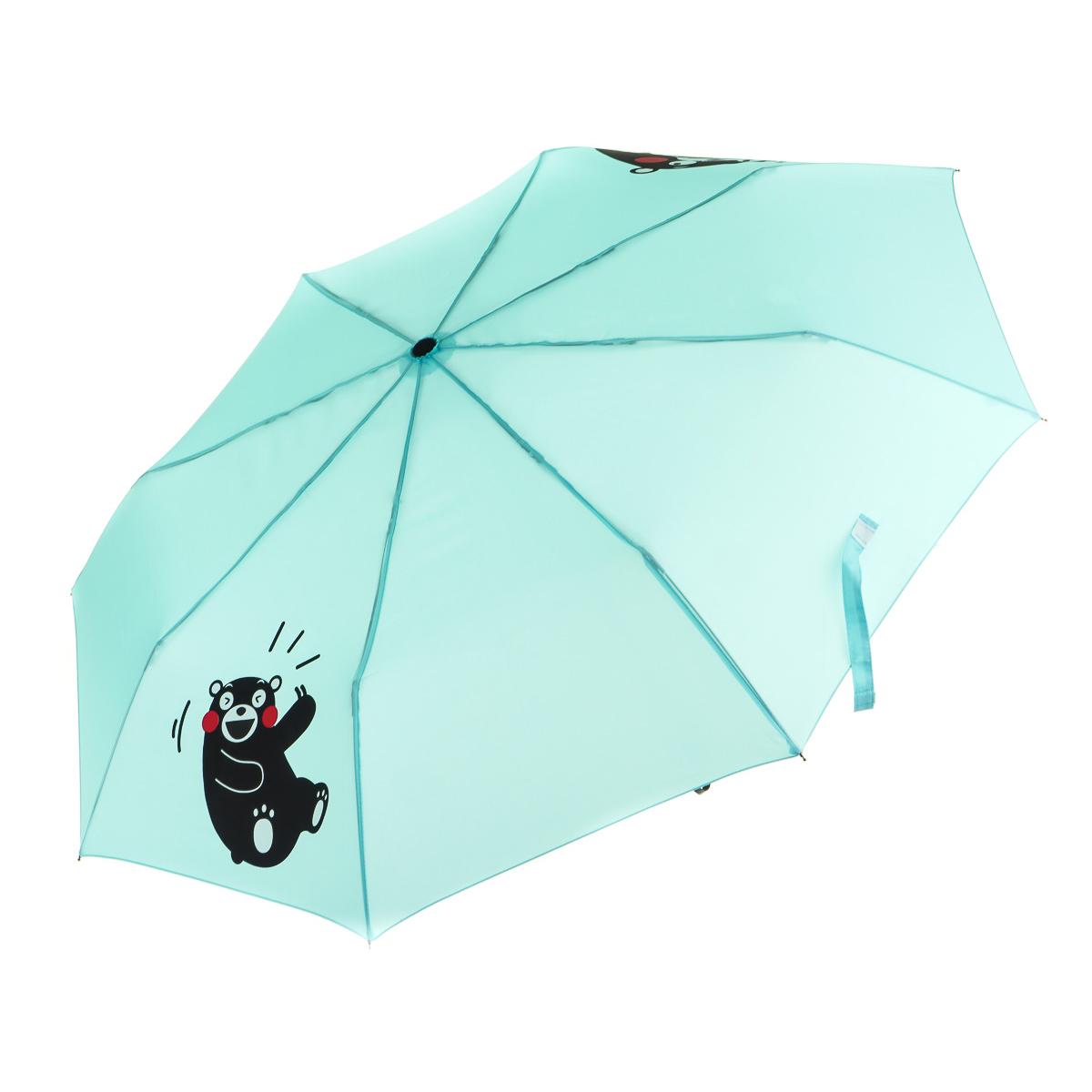 Зонт складной голубой Кумамон