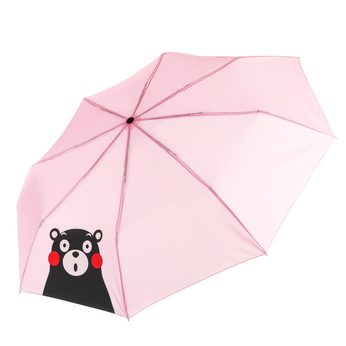 Зонт складной розовый Кумамон