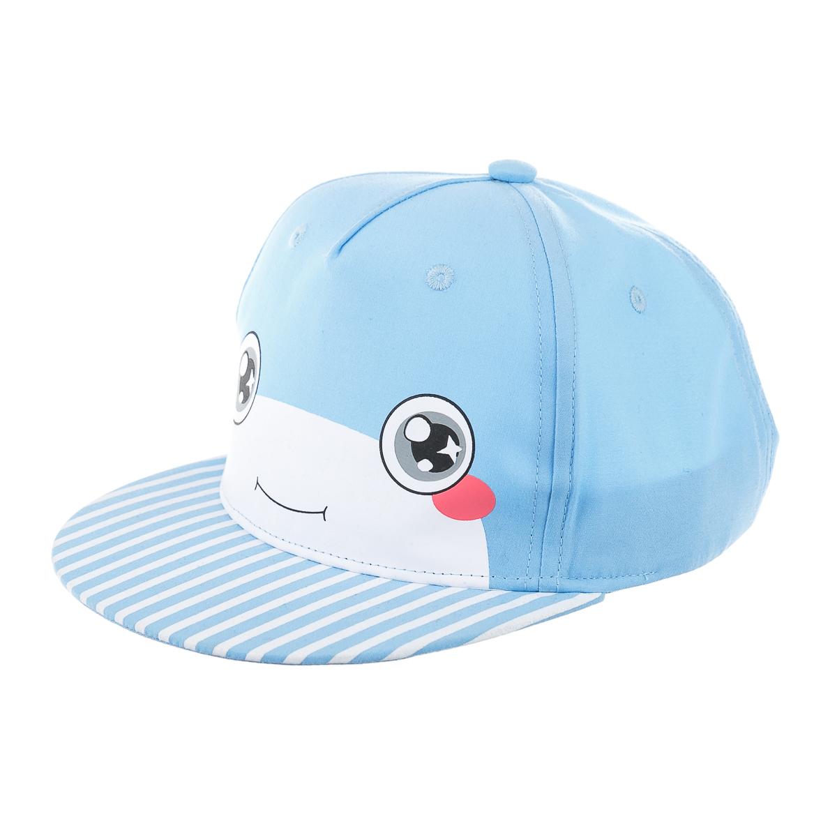 Детская кепка для прогулки, с мордочкой, голубая