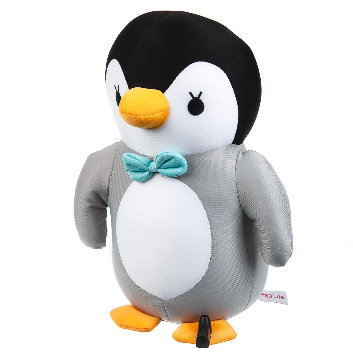 Пингвин игрушка мягкая серый