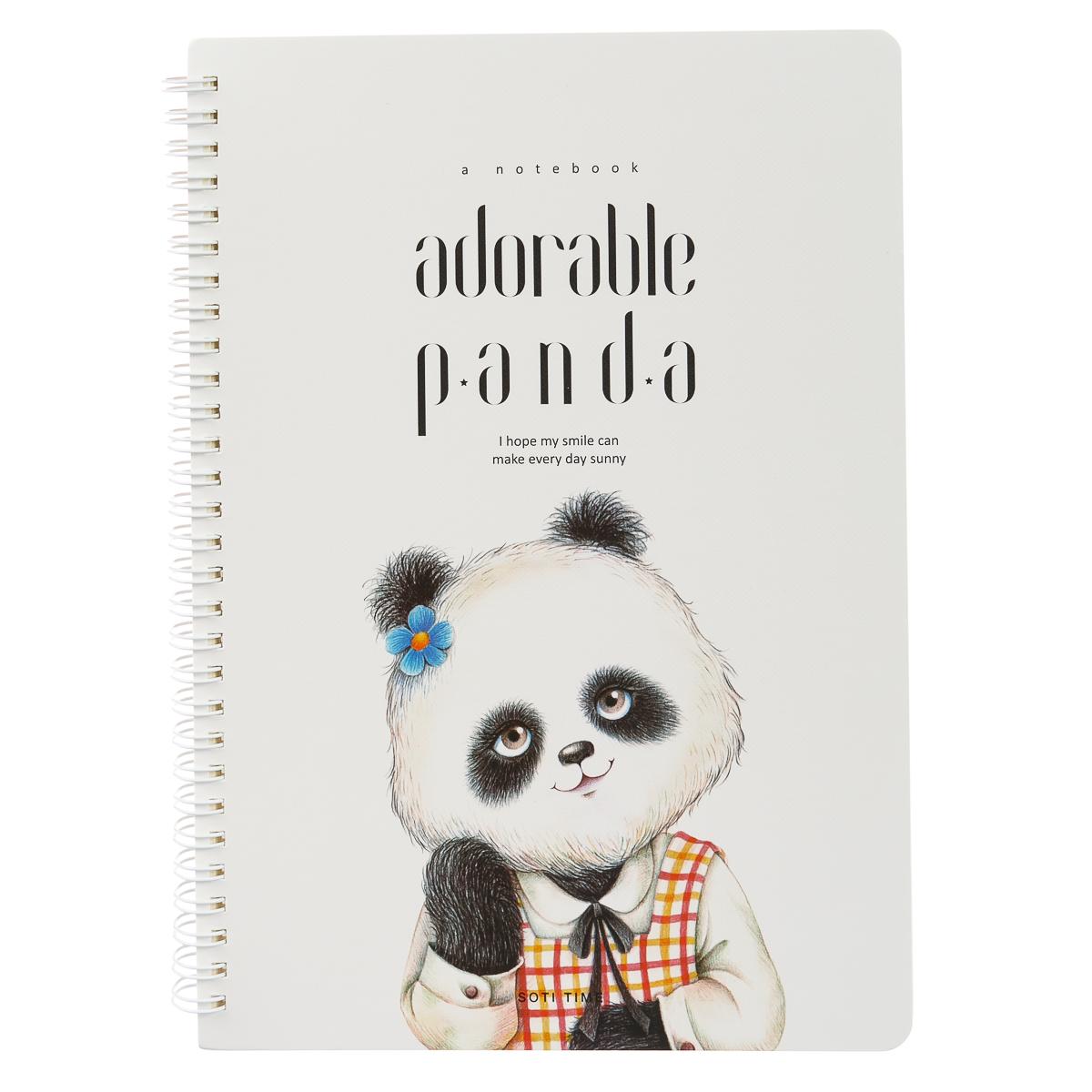 Блокнот-альбом на спирали Панда 60 страниц