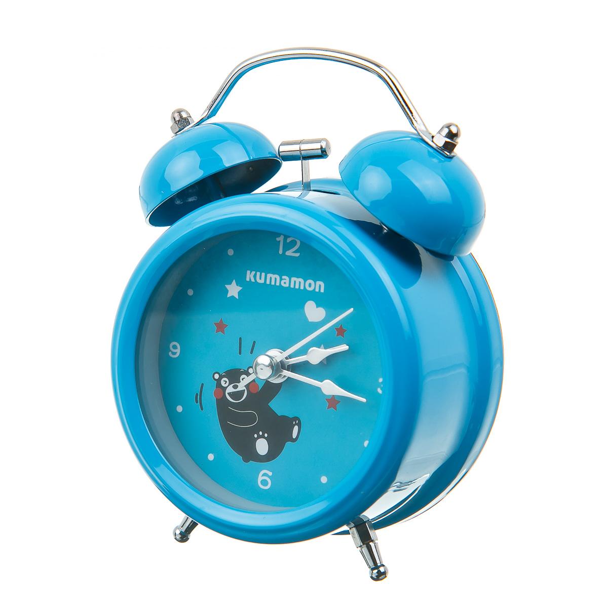 Часы настольные с будильником круглые Кумамон