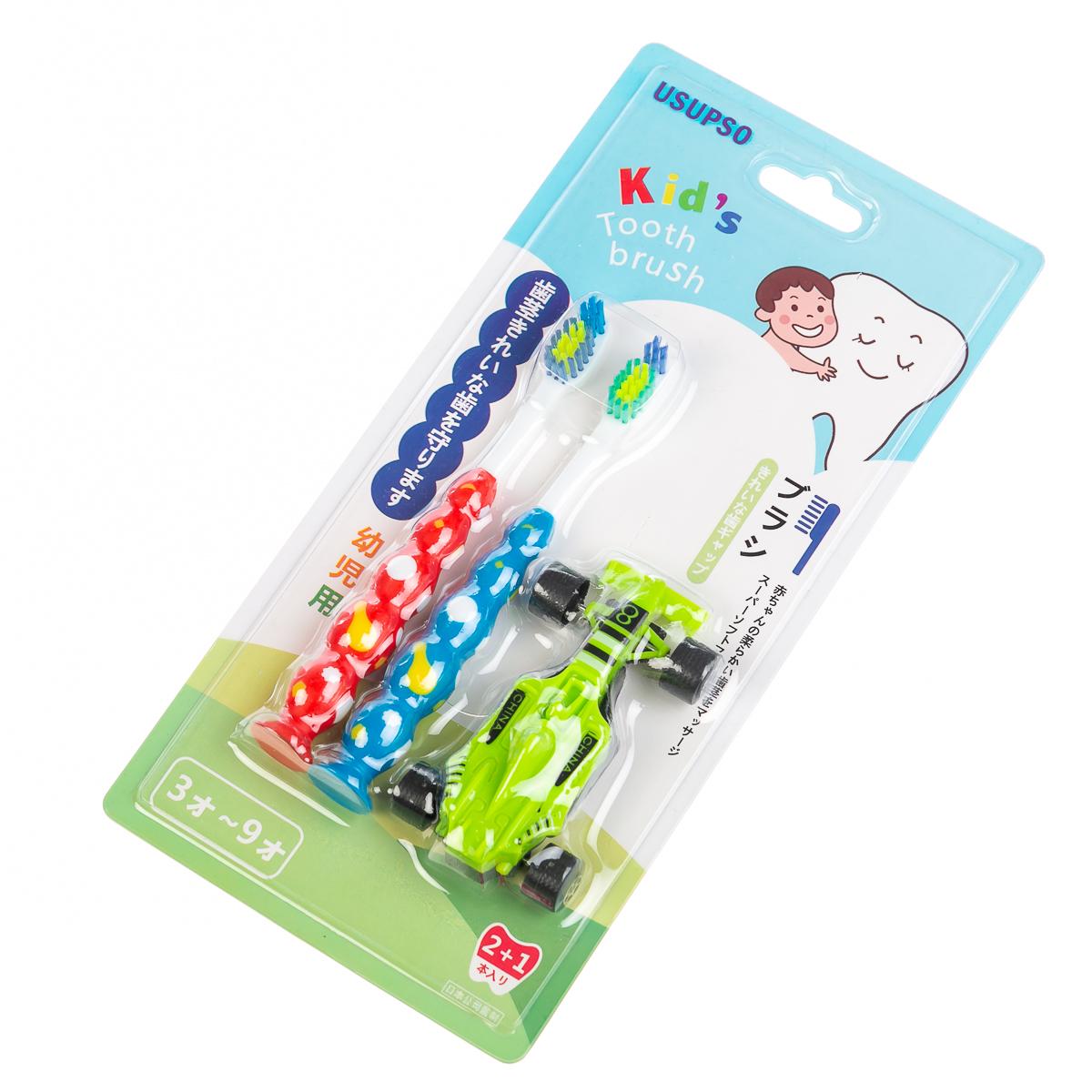 """Зубная щетка с игрушкой для детей, цвет разноцвет. р-р 14"""""""