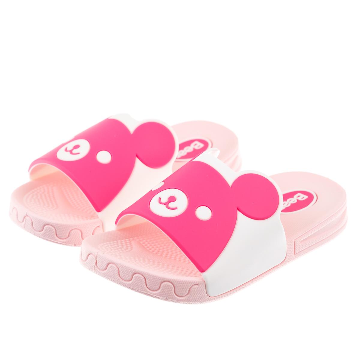 Тапочки для детей розовые мишки резиновые