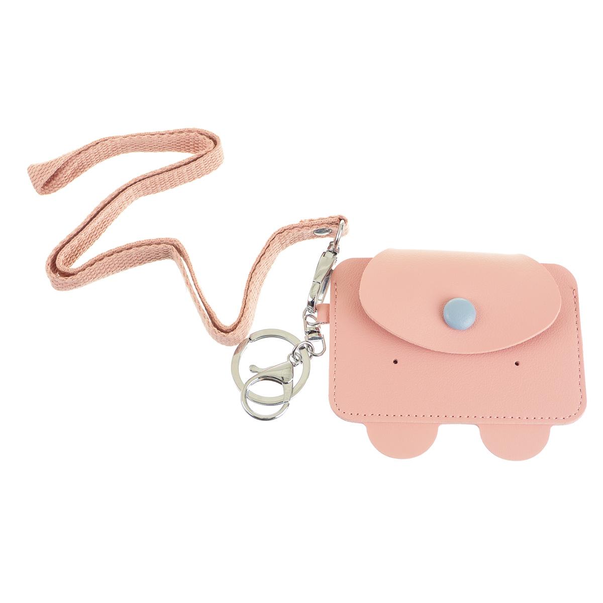Картхолдер розовый в форме медведя