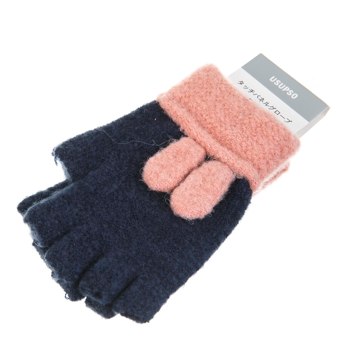 Перчатки-гловелетты с заячьими ушками