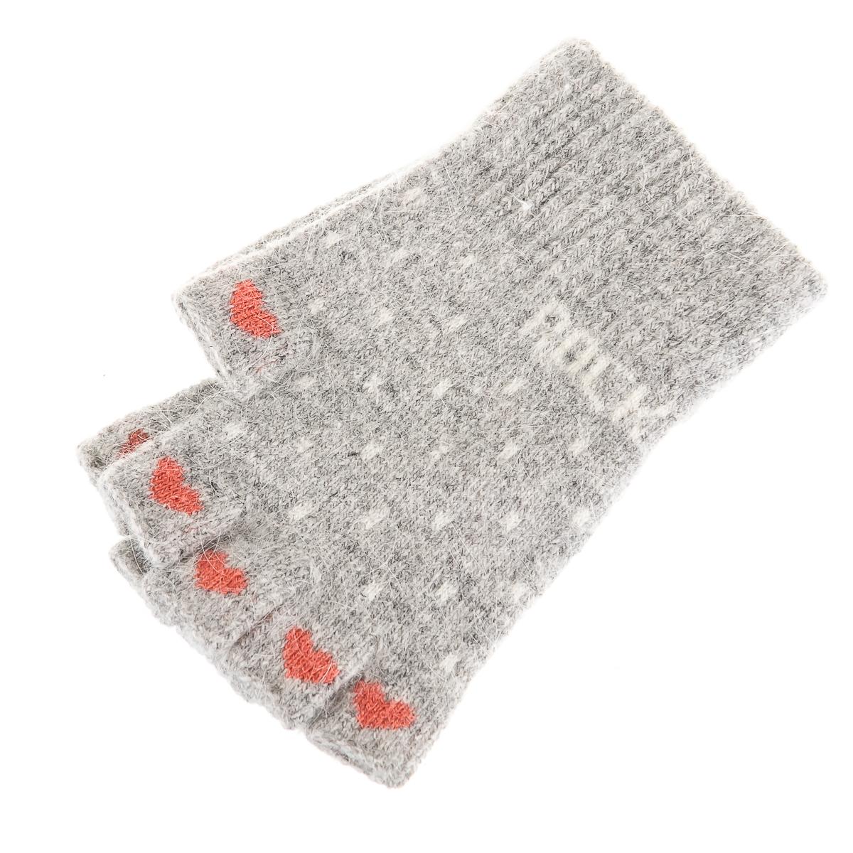 Перчатки-гловелетты с сердечками