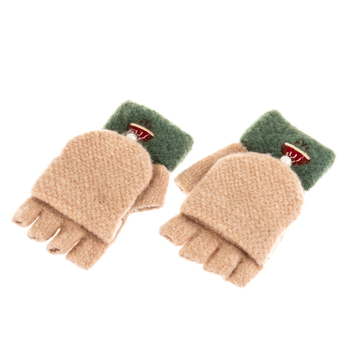 Перчатки-гловелетты с бусиной