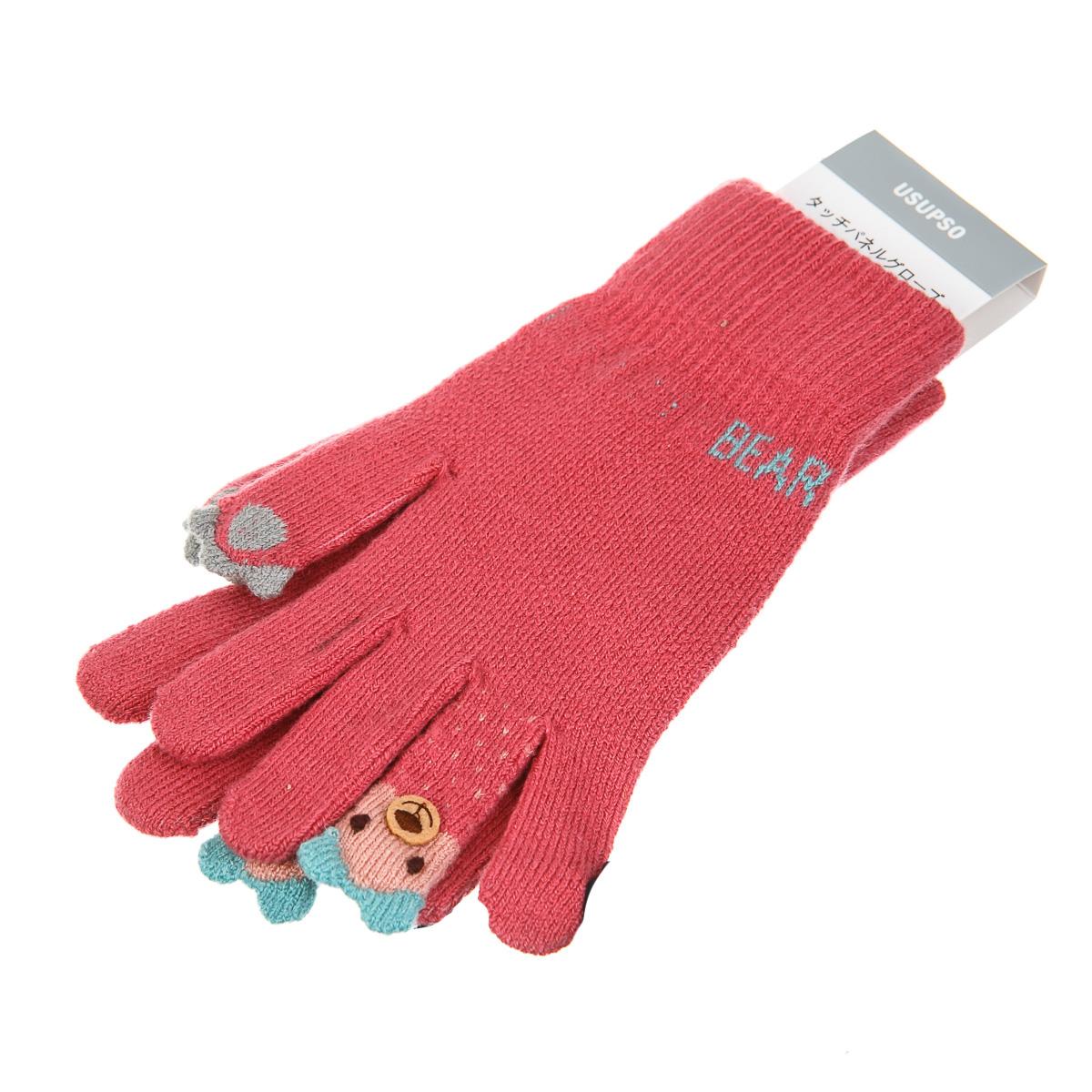 Перчатки с медвежонком на пальце