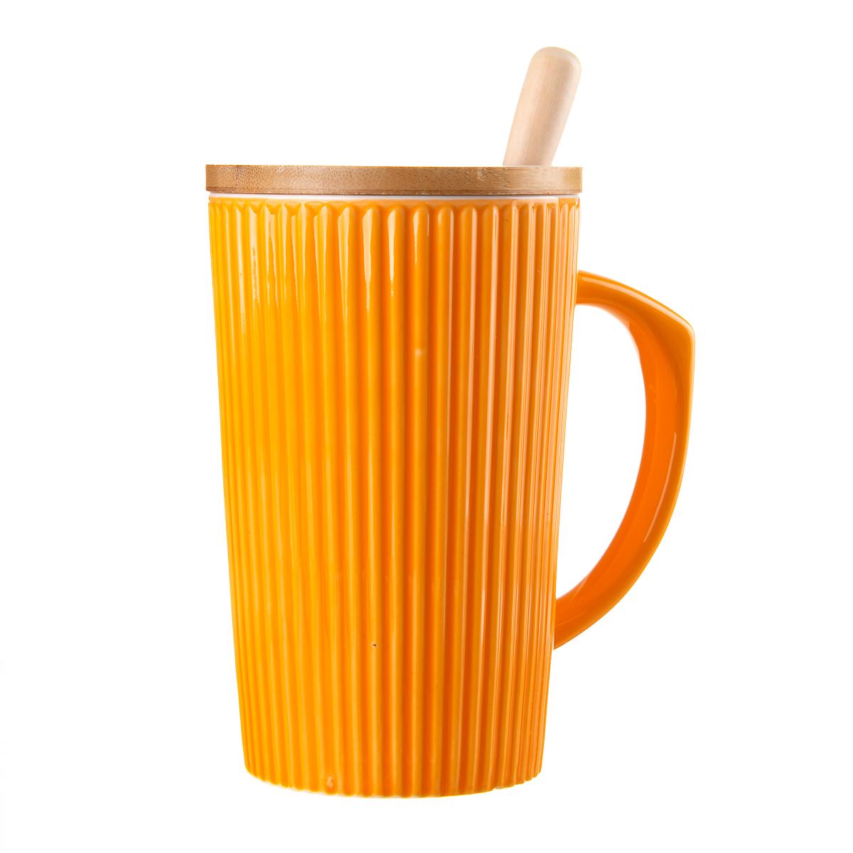 Чашка а с деревянной крышкой, 380ML