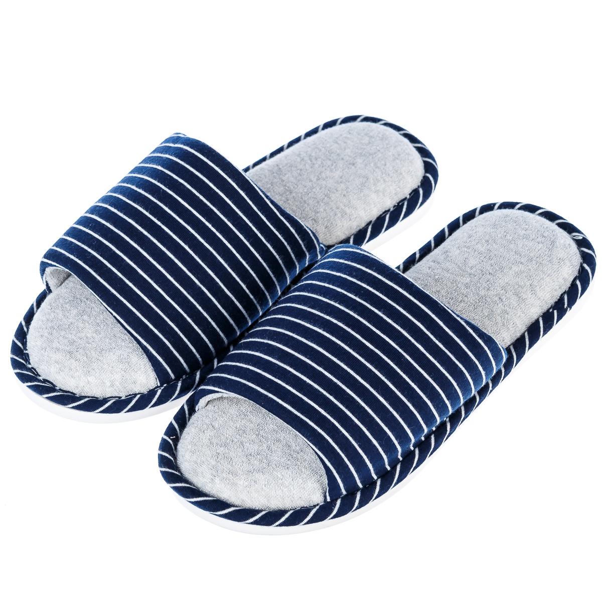 Тапочки мужские домашкие в полоску р.43-44  синие