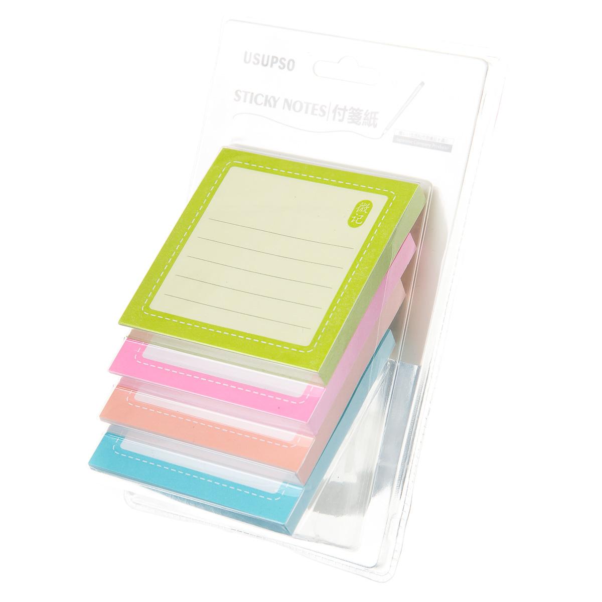 Стикеры для заметок квадратные 4 цвета