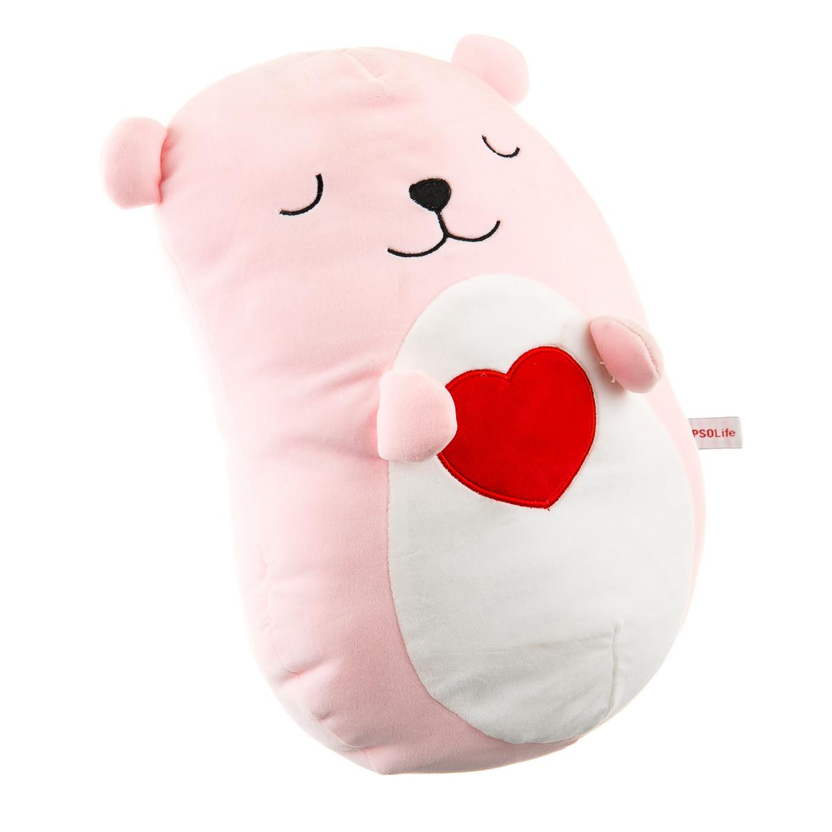 Игрушка-подушка розовый мишка