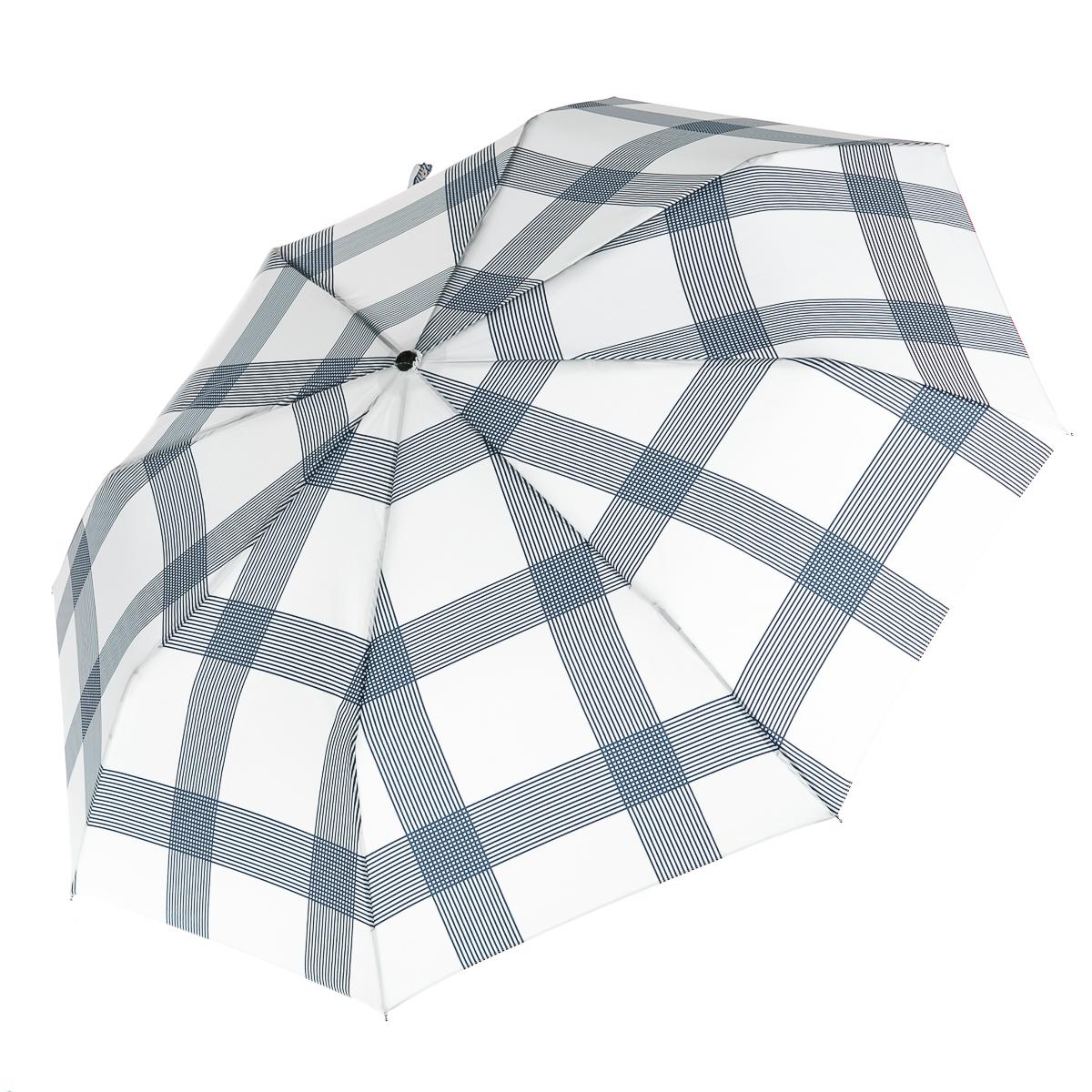 Короткий зонт в чехле в полоску для женщин, цвет синий, р-р 24 см