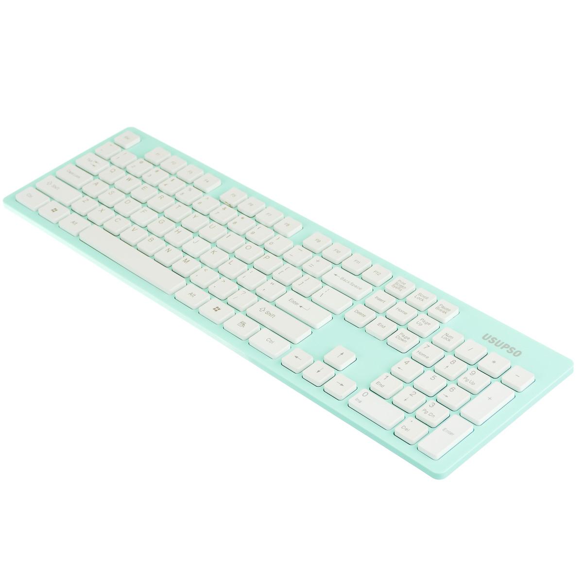 Клавиатура беспроводная голубая