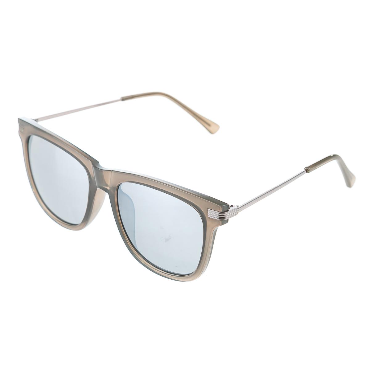 """Очки с серебристыми линзами в серой оправе унисекс, цвет серый, р-р 14"""""""