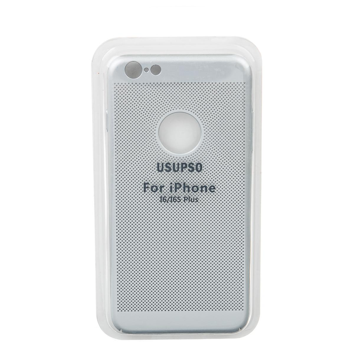 Чехол для iPhone 6 6S+ в дырочку серый