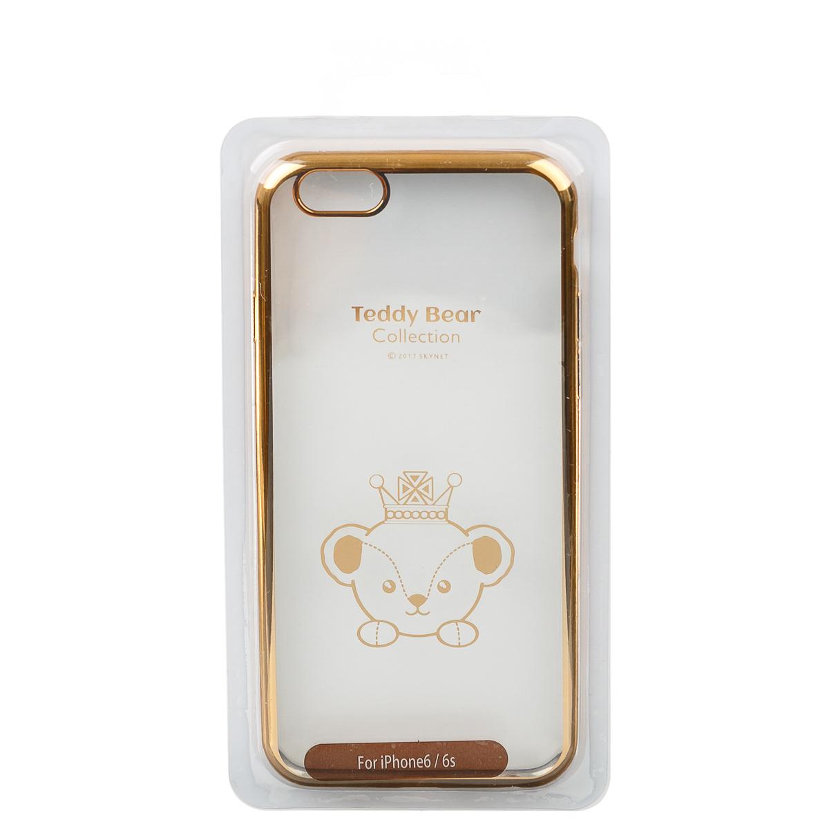 Чехол для iPhone 6 6S тедди прозрачный золотой