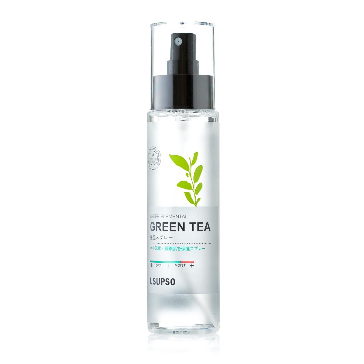 Средство по уходу за кожей лица, спрей, увлажняющий с экстрактом зеленого чая, нормализует жирность