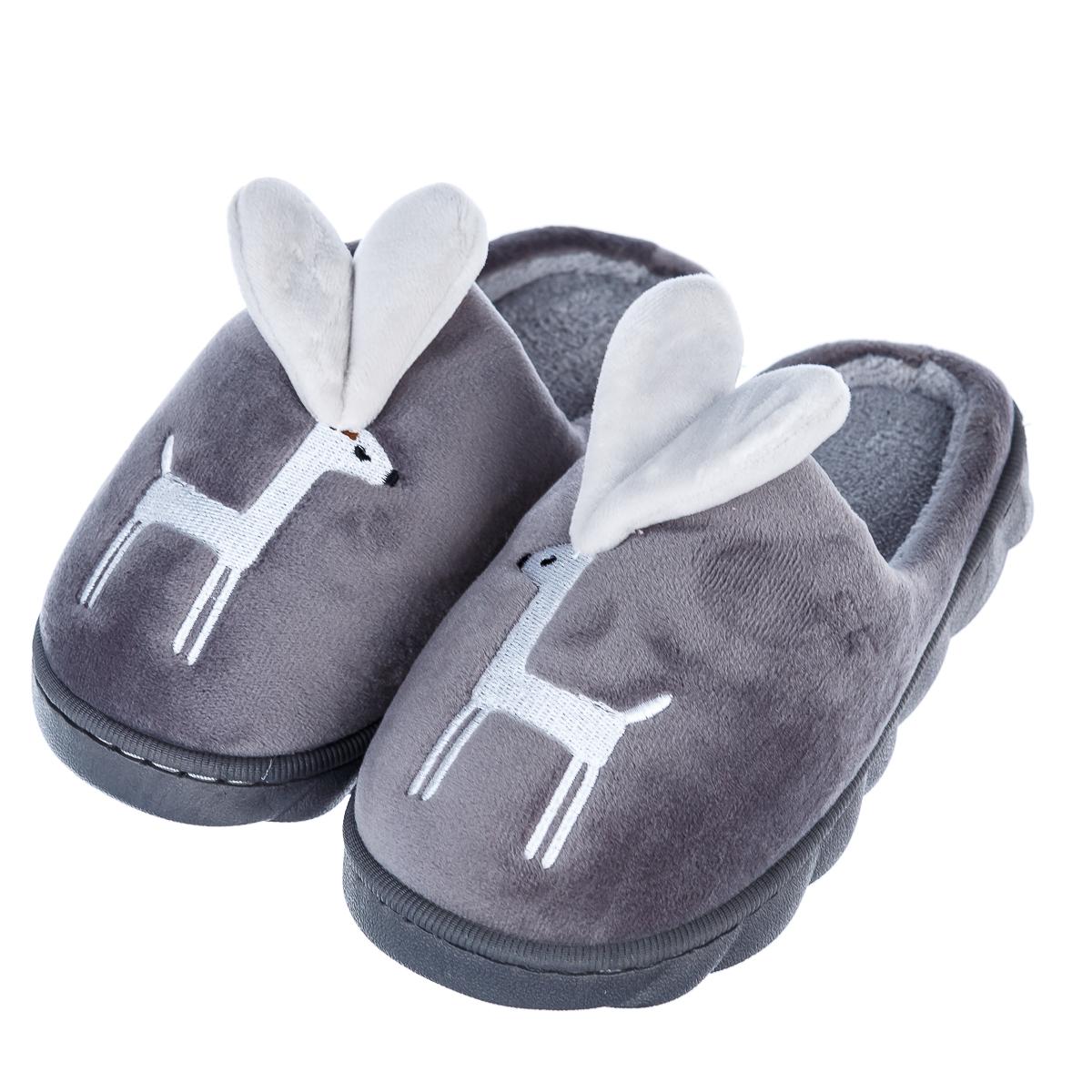 Тапочки детские мягкие с оленями арт.8858